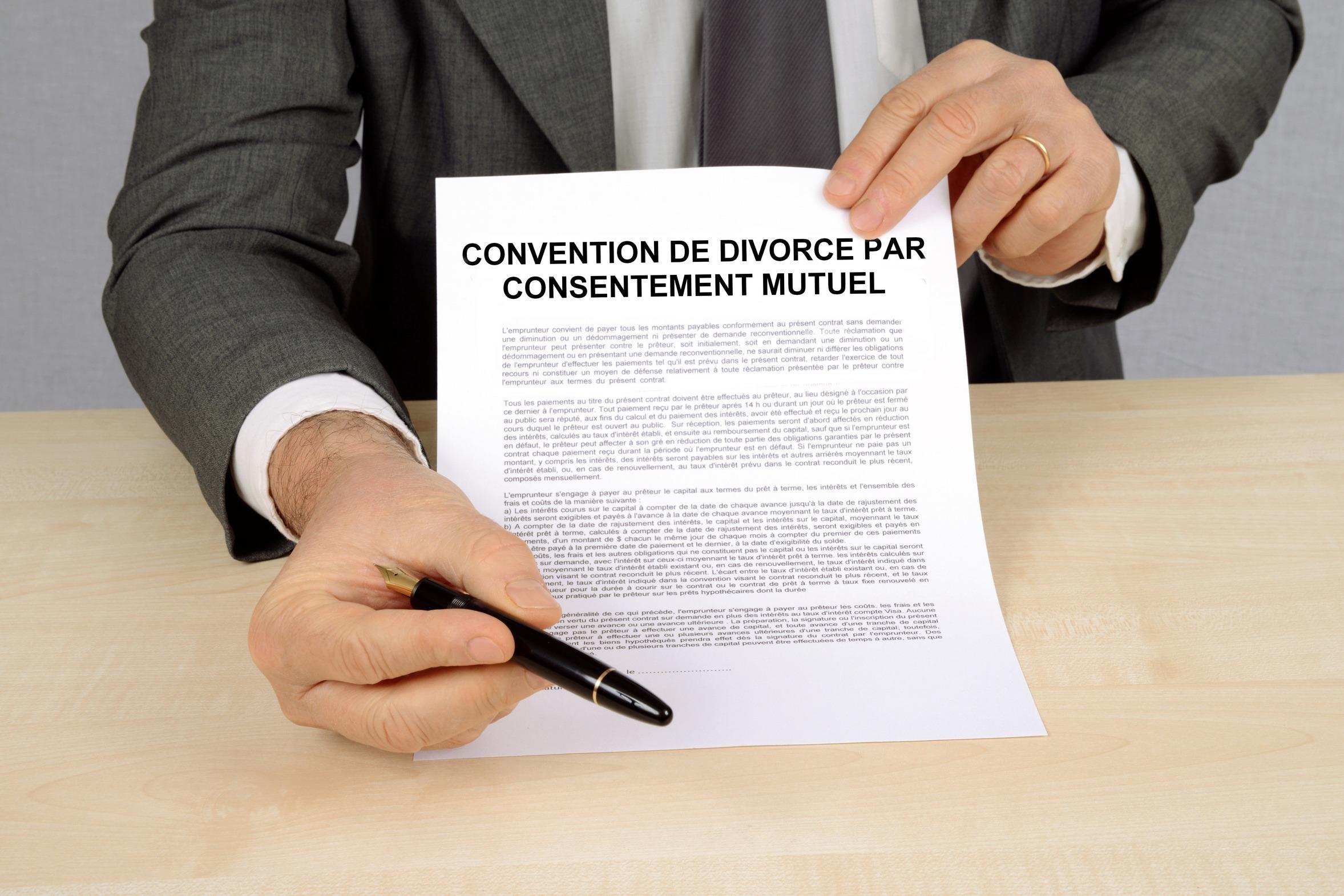 convention de divorce sans juge par consentement mutuel